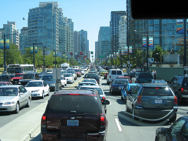 Traffic in Vancouver by Mark Woodbury on Flickr