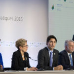 Photo: Justin Trudeau and Christy Clark at the United Nations COP 21 Climate Change Conference. Source: Province of BC / Flickr.com