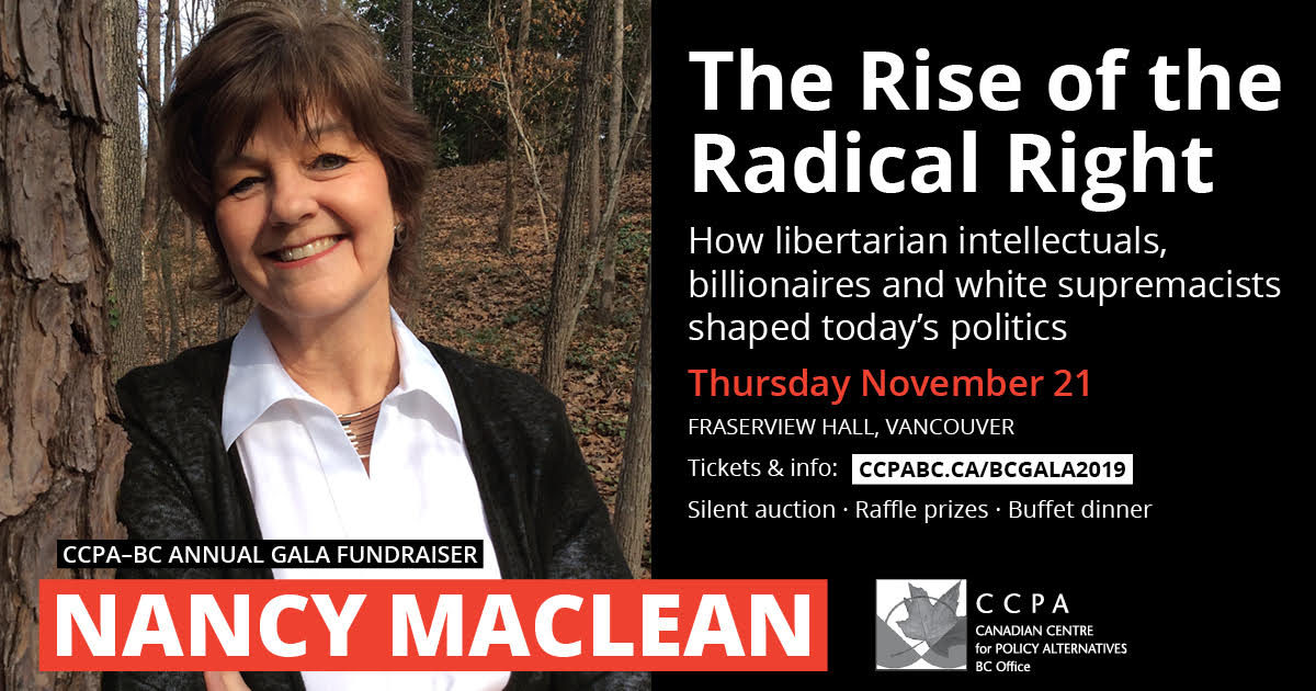 Annual Gala Fundraiser featuring Nancy MacLean